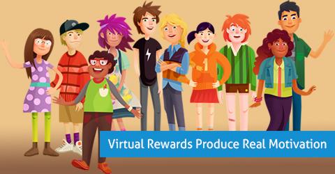 Virtual Rewards Produce Real Motivation
