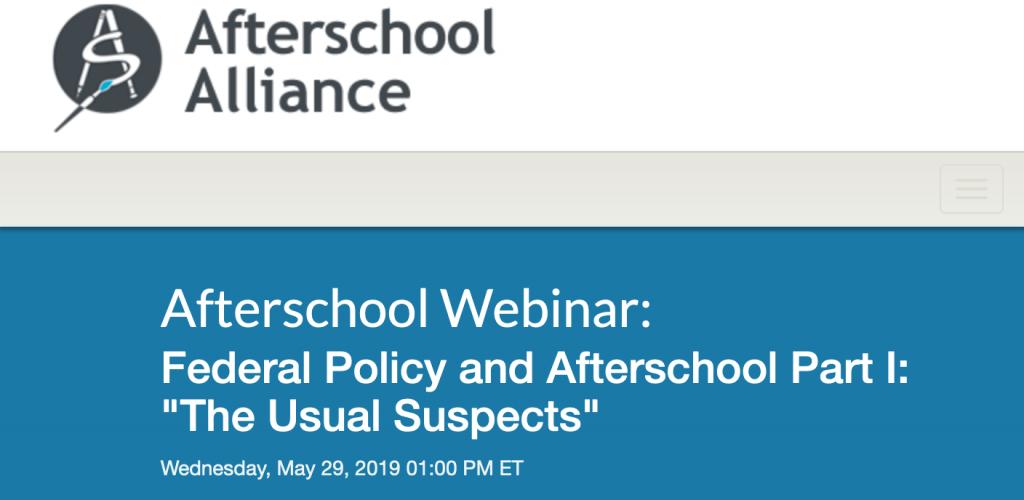 AfterSchool Alliance Webinar 1